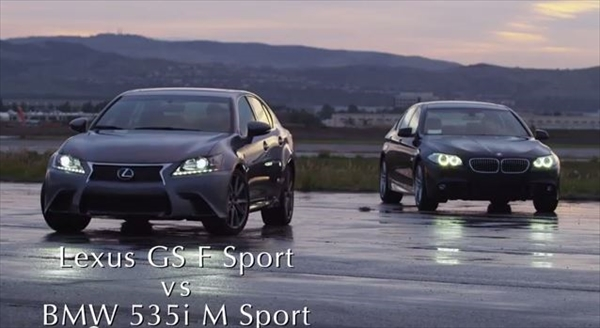 BMW535i M Sport と LEXUS GS350 F Sportの対決