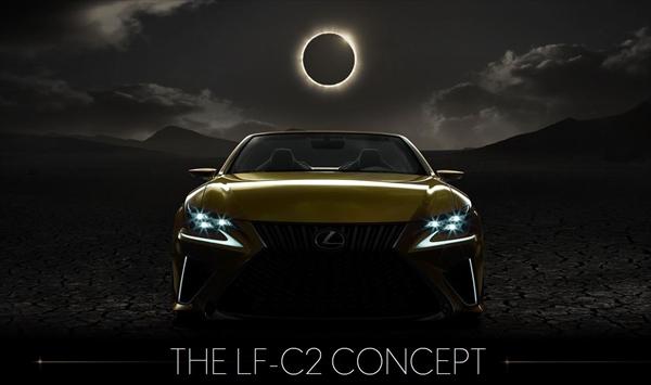 レクサスの新コンセプトカー LF-C2 CONCEPT のスタイリングが少し見えた