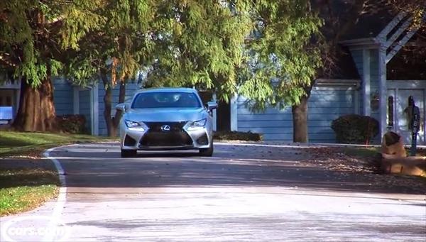 レクサスRCFのマフラー音を撮影した動画