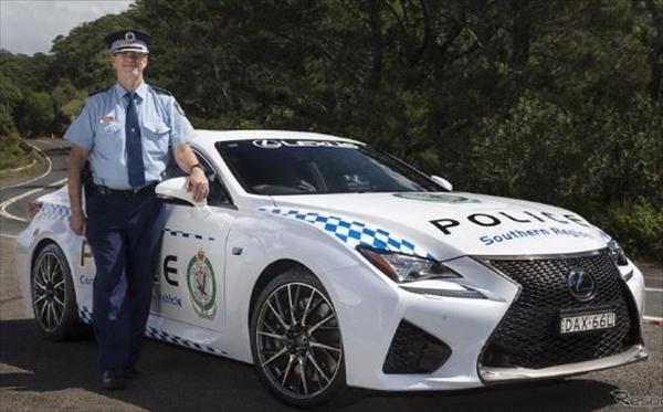 レクサスRCFがオーストラリア警察に配備された