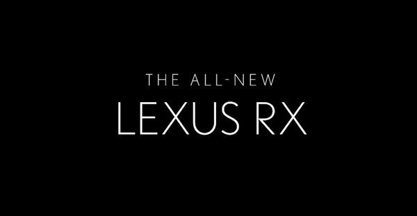 新型レクサスRXのティザー動画